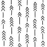 Seamless hand drawn geometric tribal pattern with arrows. Vector navajo design. Royalty Free Stock Photo