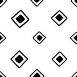 Seamless hand drawn geometric tribal pattern with random squares. Vector navajo design. Stock Images