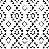 Seamless hand drawn geometric tribal pattern with rhombuses and triangles. Vector navajo design. Stock Image