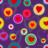Seamless hand drawn heart pattern Royalty Free Stock Photo
