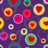 Seamless hand drawn heart pattern Royalty Free Stock Photo