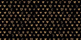 Seamless hand drawn hearts Stock Photography