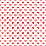 Seamless hand-drawn hearts Valentine Stock Images