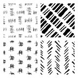 Seamless hand drawn ink patterns Stock Photography