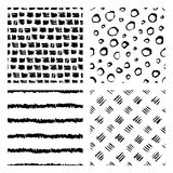 Seamless hand drawn ink patterns Royalty Free Stock Image