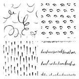 Seamless hand drawn ink patterns Stock Image