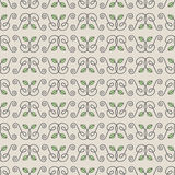 Seamless Hand Drawn Leaf Pattern Stock Image