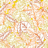 Seamless Hand drawn Leaf pattern Royalty Free Stock Photo