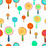 Seamless hand drawn of lollipop pattern Royalty Free Stock Images