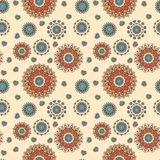 Seamless hand drawn mandala pattern for printing on fabric or pa Royalty Free Stock Images