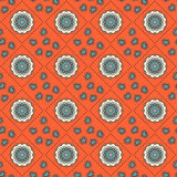 Seamless hand drawn mandala pattern for printing on fabric or pa Royalty Free Stock Photos