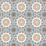 Seamless hand drawn mandala pattern. Vintage decorative elements Royalty Free Stock Images