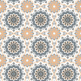 Seamless hand drawn mandala pattern. Vintage decorative elements Royalty Free Stock Image