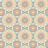 Seamless hand drawn mandala pattern. Vintage decorative elements Royalty Free Stock Photos