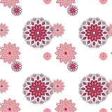 Seamless hand drawn mandala pattern. Vintage decorative elements vector illustration