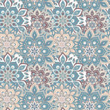 Seamless hand drawn mandala pattern. Vintage elements in oriental style. Texture for wallpapers, backgrounds and page fill. Islam. Arabic, indian, turkish royalty free illustration