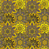 Seamless hand drawn mandala pattern. Vintage elements in orienta. L style. Texture for wallpapers, backgrounds and page fill. Islam, arabic, indian, turkish Royalty Free Stock Image
