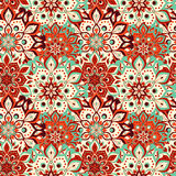 Seamless hand drawn mandala pattern. Vintage elements in orienta. L style. Texture for wallpapers, backgrounds and page fill. Islam, arabic, indian, turkish Stock Image