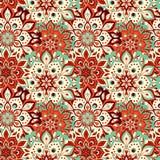 Seamless hand drawn mandala pattern. Vintage elements in orienta Stock Image
