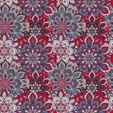 Seamless hand drawn mandala pattern. Vintage elements in orienta Royalty Free Stock Image