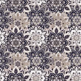 Seamless hand drawn mandala pattern. Vintage elements in orienta Royalty Free Stock Photography