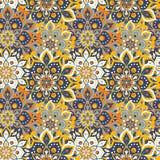 Seamless hand drawn mandala pattern. Vintage elements in orienta royalty free stock photos