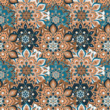 Seamless hand drawn mandala pattern. Vintage elements in orienta. L style. Texture for wallpapers, backgrounds and page fill. Islam, arabic, indian, turkish Stock Photo