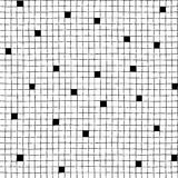 Seamless  hand drawn minimalistic squared pattern with black cells Stock Photos
