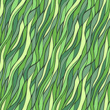 Seamless hand-drawn pattern with abstract waves. Royalty Free Stock Photography