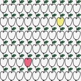 Seamless hand-drawn pattern with apple. Vector. Illustration. Doodle style Stock Photography