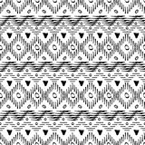 Seamless hand-drawn pattern. Black and white colors. Stock Images
