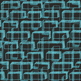 Seamless hand drawn pattern with blue buttons. Stock Image