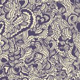 Seamless hand-drawn pattern. Consists of doodles. Vector illustration Royalty Free Stock Photo