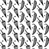 Seamless hand drawn pattern with pepper. Mexican food. Vector stylish Stock Images