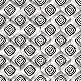 Seamless hand-drawn pattern. The shape of a rhombus. Royalty Free Stock Image