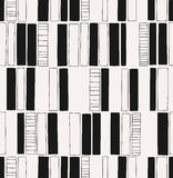 Seamless hand drawn pattern with squares Royalty Free Stock Photos