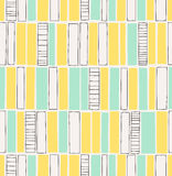 Seamless hand drawn pattern with squares Stock Photo