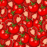 Tomato seamless pattern Stock Images
