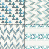 Seamless hand drawn patterns. Seamless hand drawn geometric pattern set Royalty Free Stock Photo