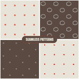 Seamless hand drawn patterns. Vector illustration Royalty Free Stock Photo