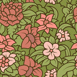 Seamless hand-drawn retro texture for your design vector illustration