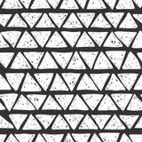 seamless hand drawn triangles pattern stock vector illustration Dark Blue Chevron Border seamless hand drawn triangles pattern stock illustration