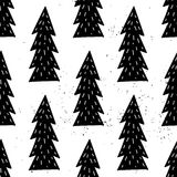 Seamless hand-drawn triangles pattern Royalty Free Stock Photos