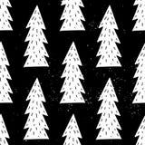Seamless hand-drawn triangles pattern Stock Photo