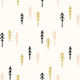 Seamless hand-drawn triangles pattern Stock Images