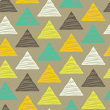 Seamless hand-drawn triangles pattern. Stock Photos