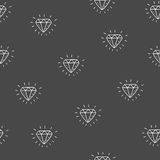Seamless hand drawn vector pattern. Seamless vector background - diamond pattern Royalty Free Stock Image