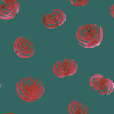 Seamless hand drawn watercolor floral ornament with roses Royalty Free Stock Photography