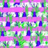 Seamless Hand Drawn Watercolor Pattern. Bright Design for Wallpaper, Tile, Textile, Fabric, Wrapping, Packaging, Camouflage Print. Royalty Free Stock Photo