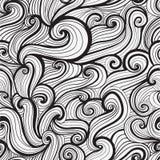 Seamless hand-drawn waves texture. Royalty Free Stock Photos
